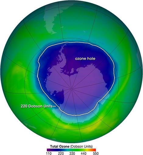 Nasa Ozone Watch Ozone Hole Facts