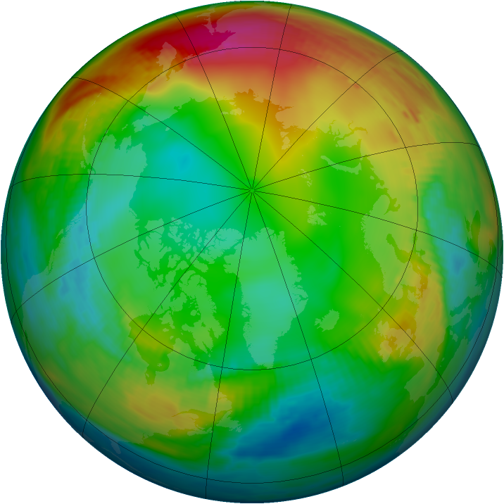 Arctic ozone map for 10 January 1979