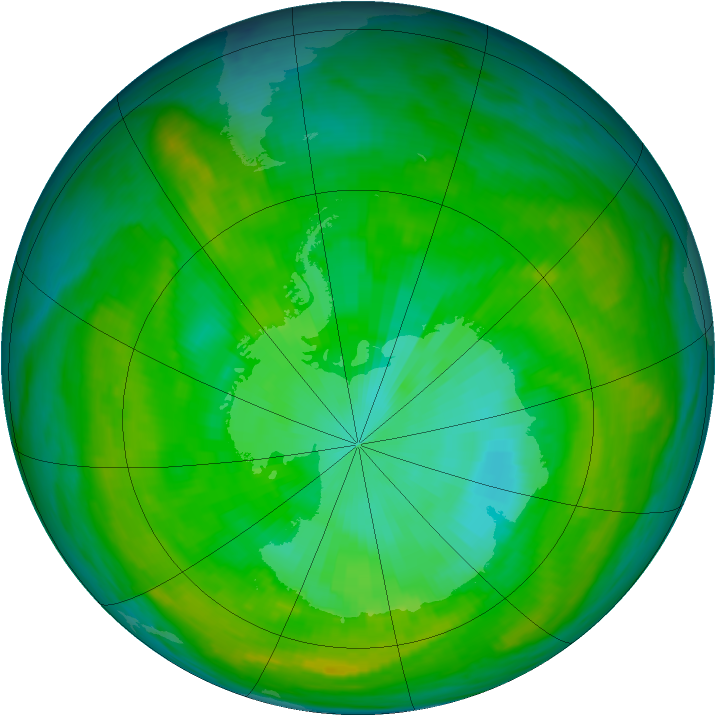 Antarctic ozone map for 11 January 1979