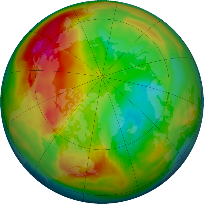 Arctic ozone map for 18 January 1979