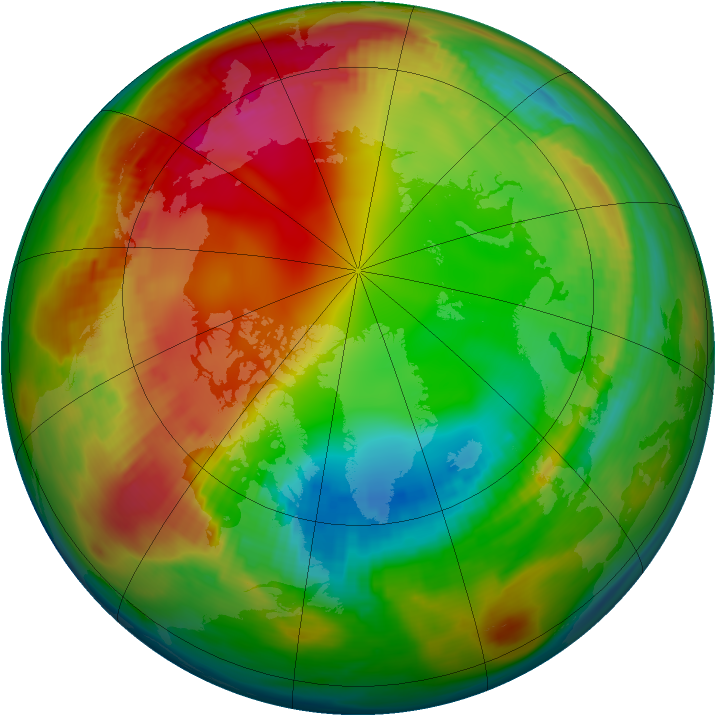 Arctic ozone map for 23 January 1979