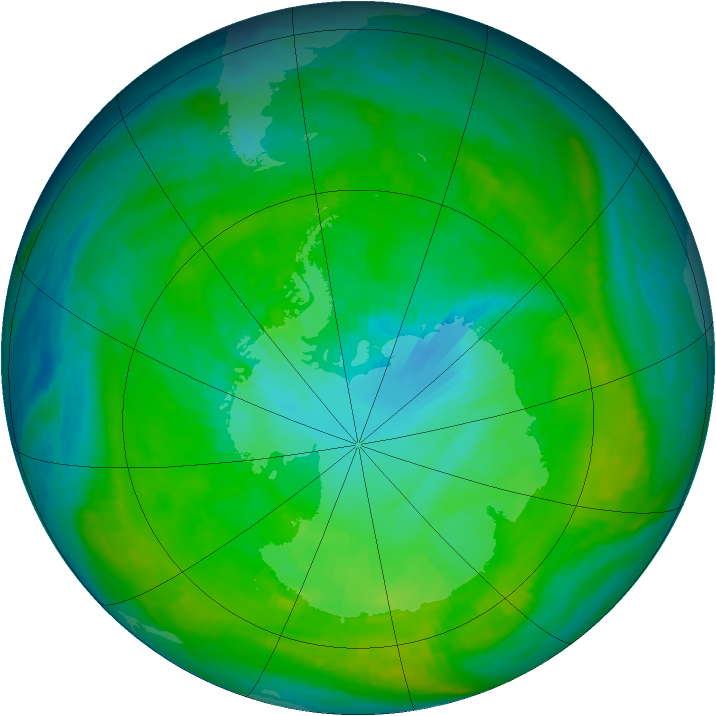 Antarctic ozone map for 23 January 1979