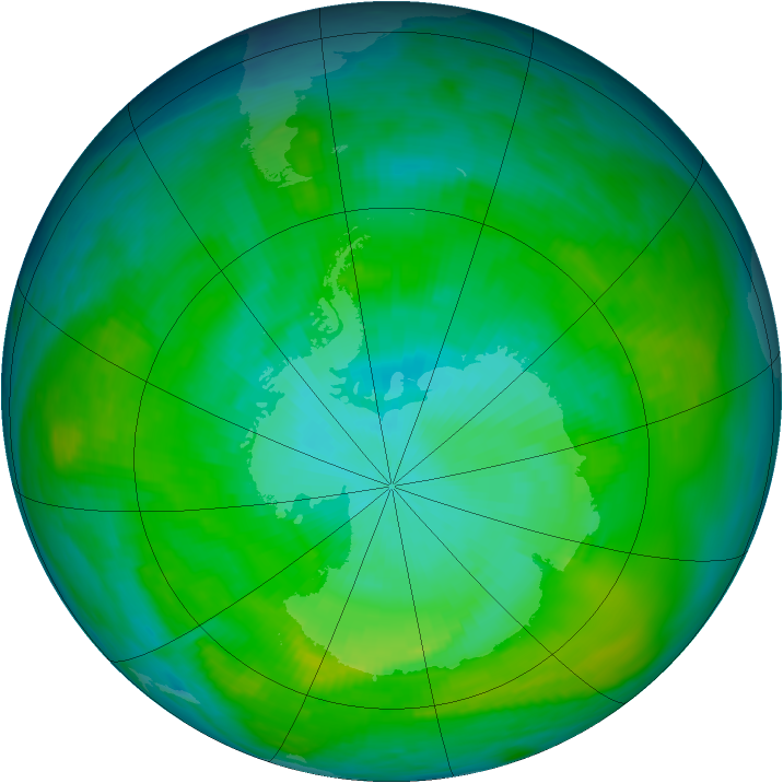 Antarctic ozone map for 26 January 1979