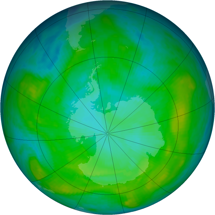 Antarctic ozone map for 28 January 1979