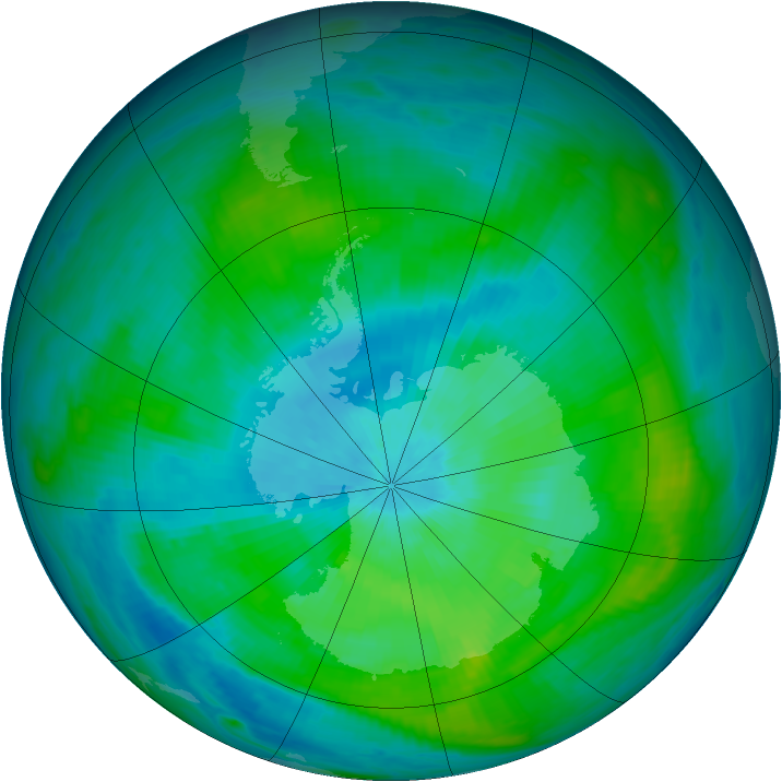 Antarctic ozone map for 24 February 1979