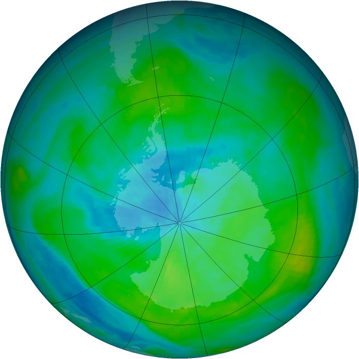 Antarctic ozone map for 25 February 1979