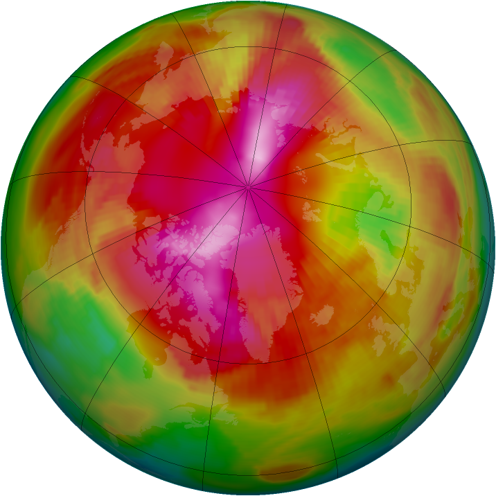 Arctic ozone map for 26 February 1979