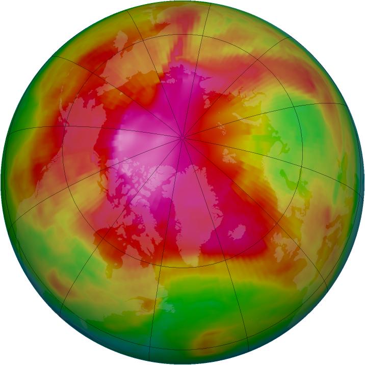 Arctic ozone map for 28 February 1979