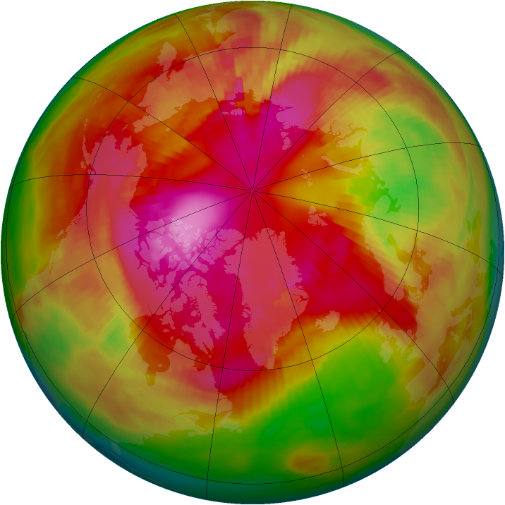 Arctic ozone map for 01 March 1979