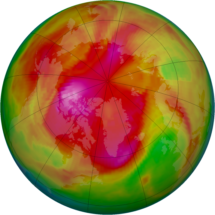 Arctic ozone map for 02 March 1979