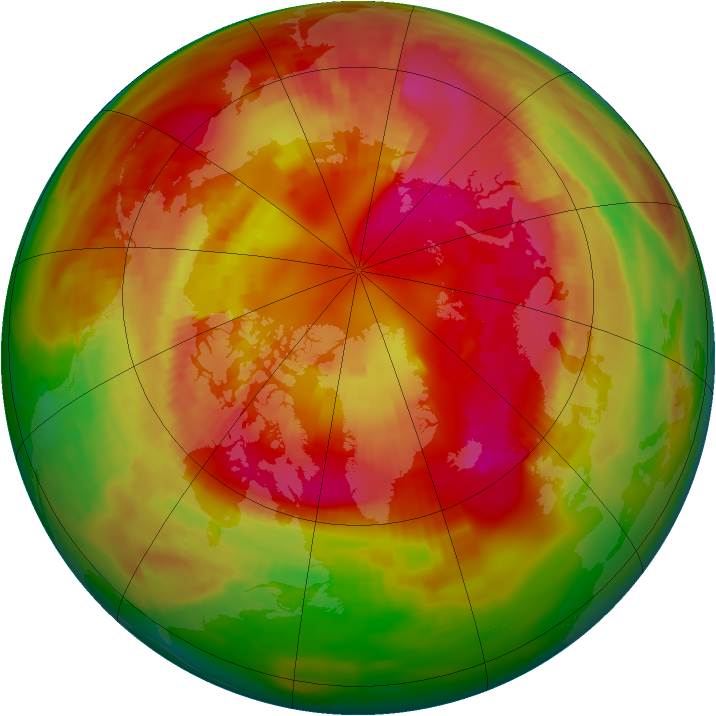 Arctic ozone map for 06 March 1979