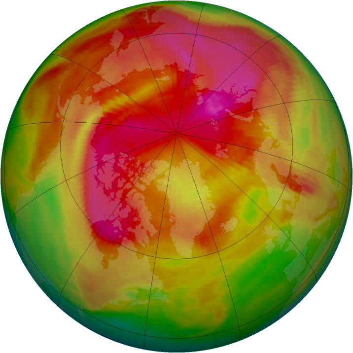 Arctic ozone map for 11 March 1979