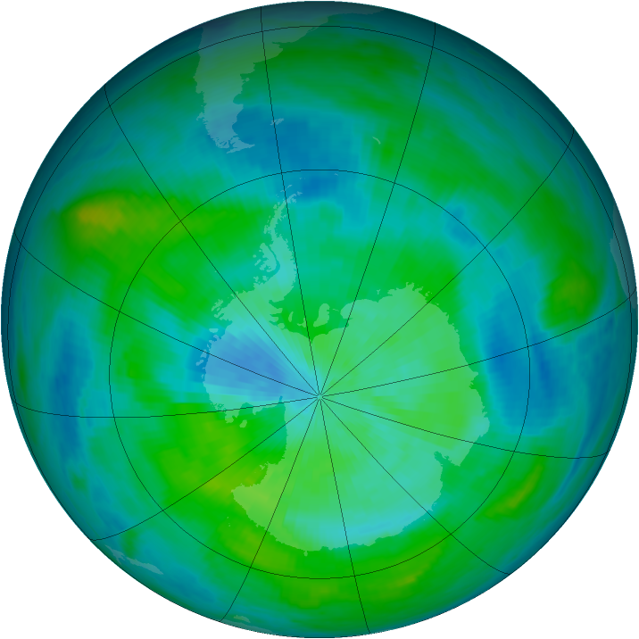 Antarctic ozone map for 11 March 1979