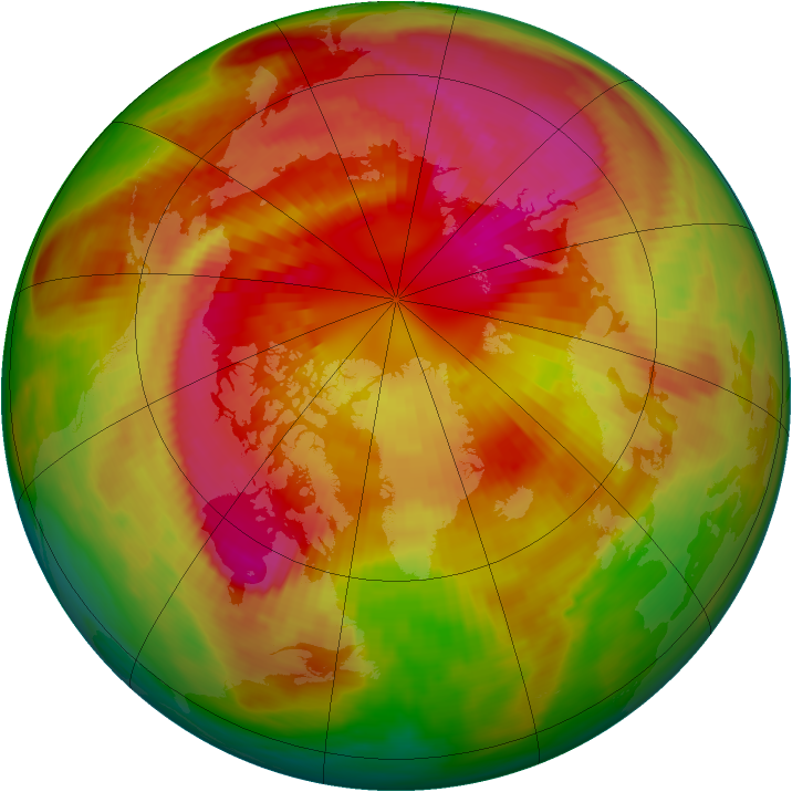 Arctic ozone map for 12 March 1979