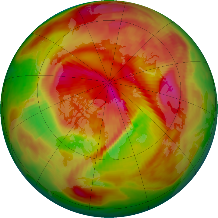 Arctic ozone map for 18 March 1979