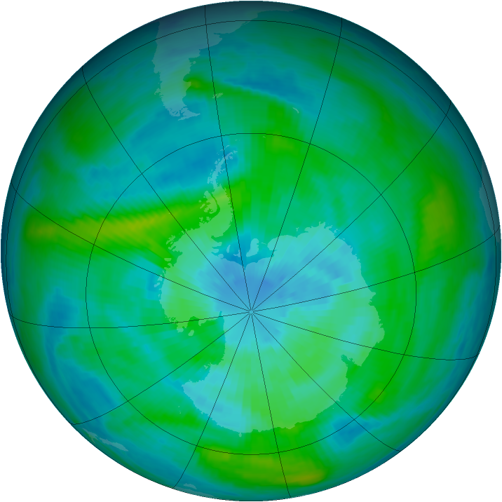 Antarctic ozone map for 19 March 1979