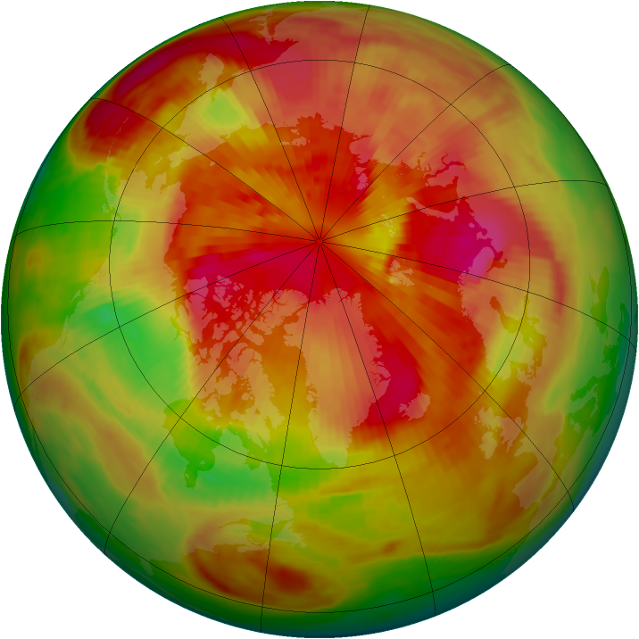 Arctic ozone map for 20 March 1979