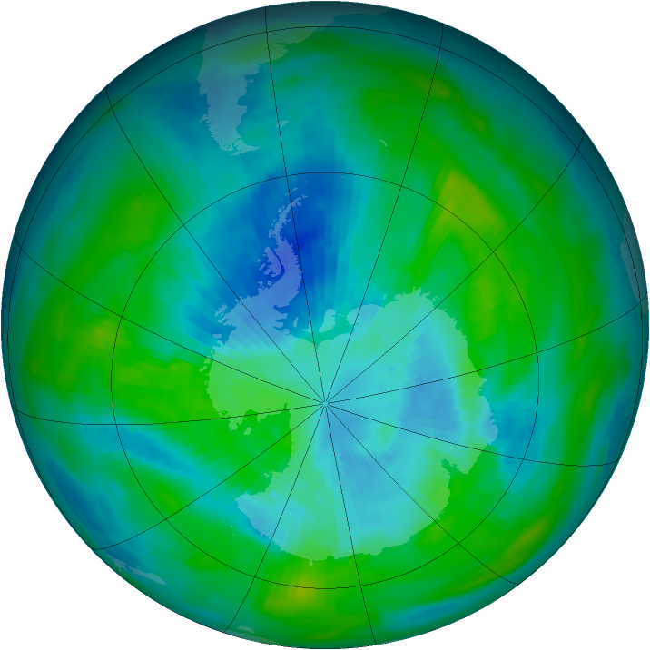 Antarctic ozone map for 23 March 1979