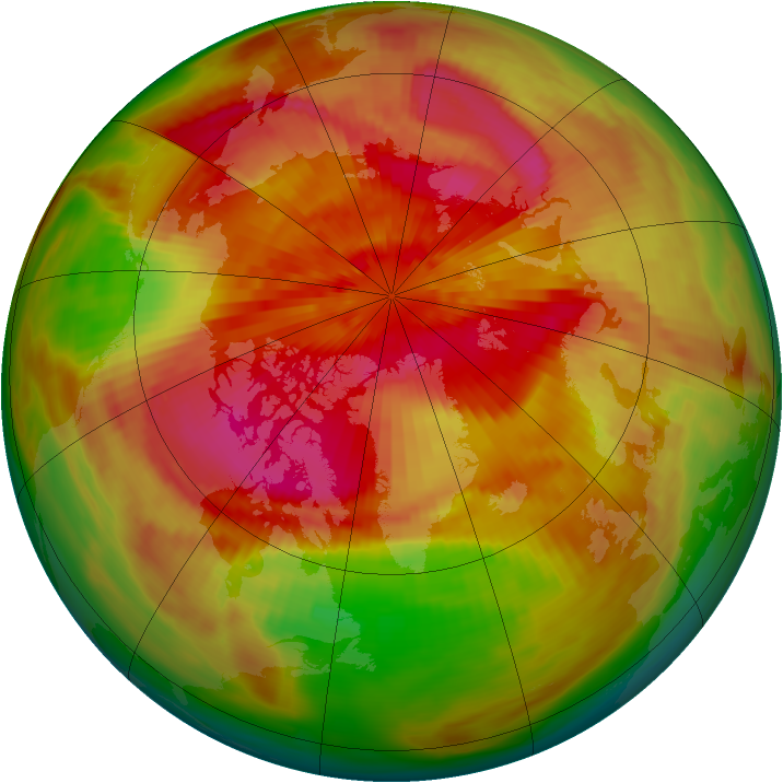 Arctic ozone map for 26 March 1979