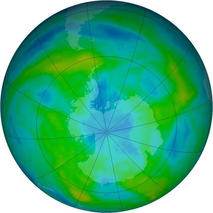 Antarctic ozone map for 27 March 1979