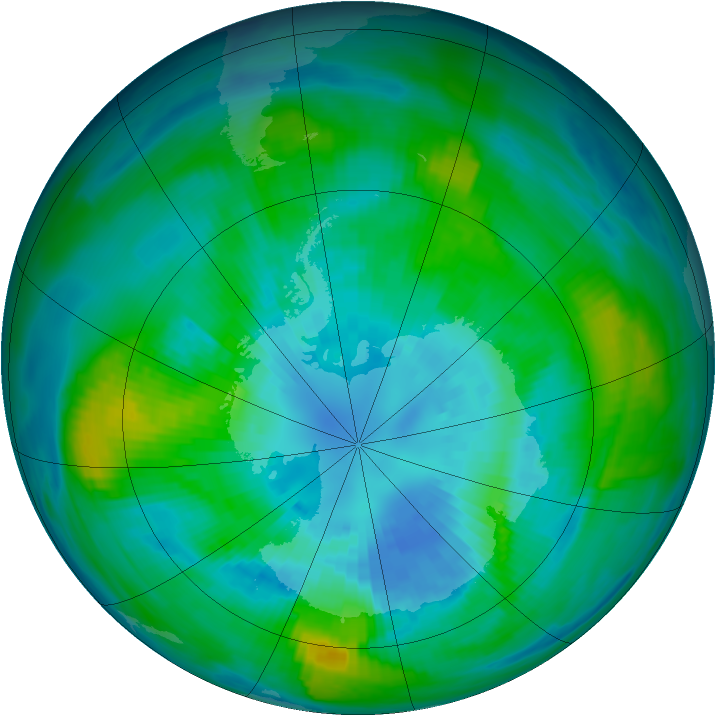 Antarctic ozone map for 31 March 1979