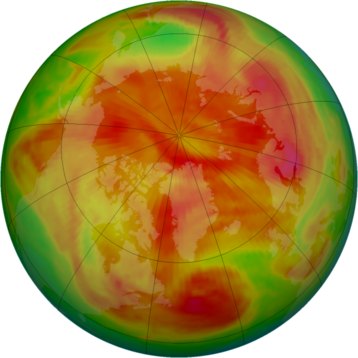Arctic ozone map for 15 April 1979