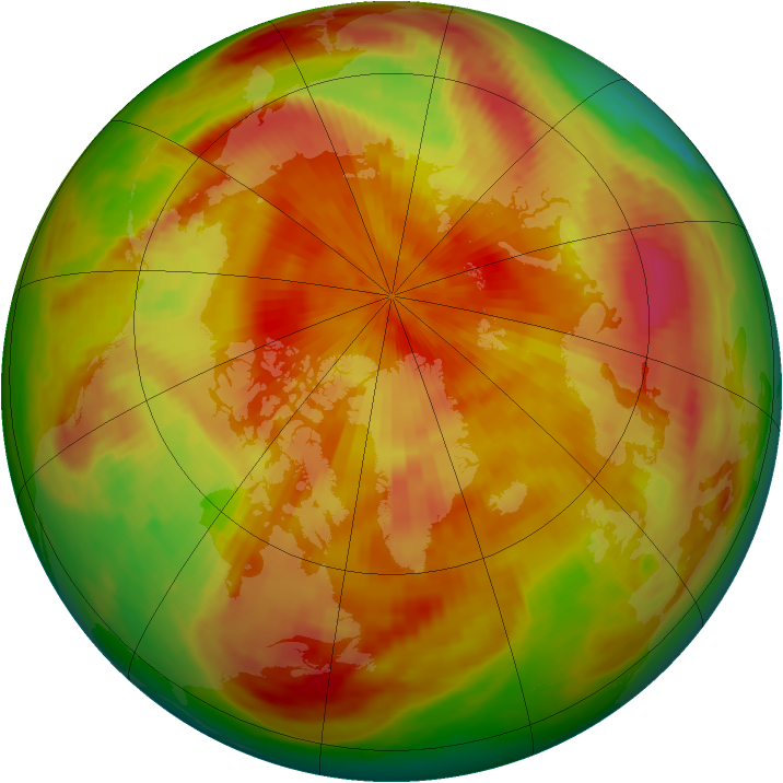 Arctic ozone map for 18 April 1979