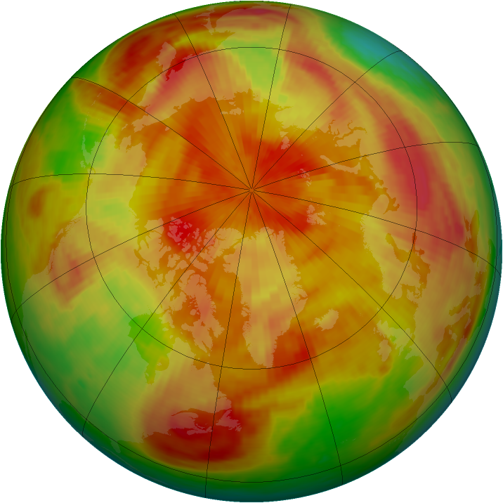Arctic ozone map for 19 April 1979