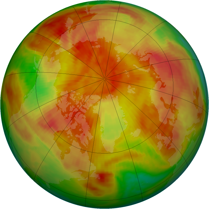 Arctic ozone map for 24 April 1979