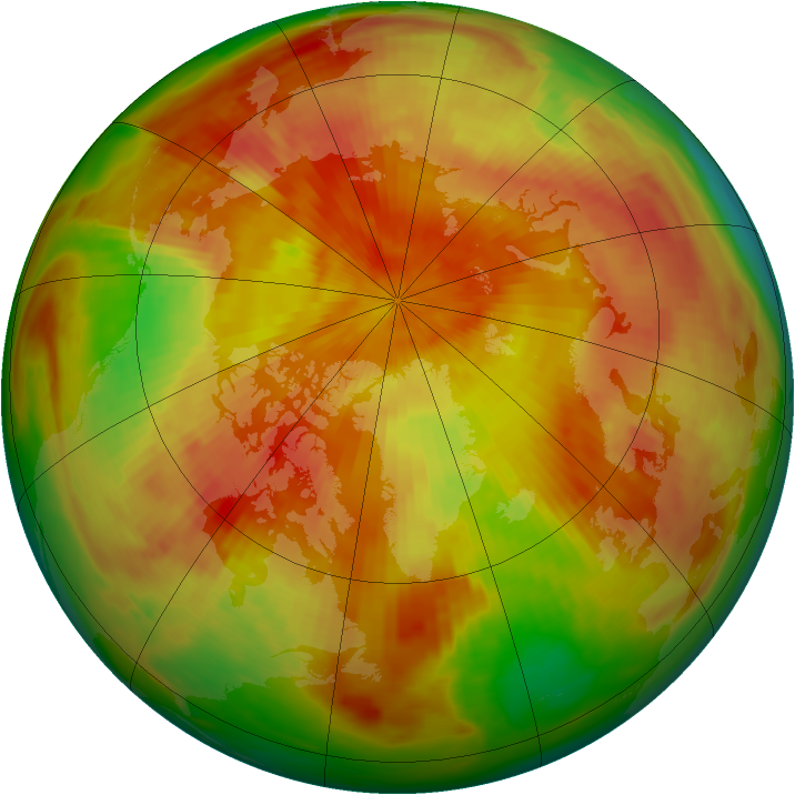 Arctic ozone map for 25 April 1979