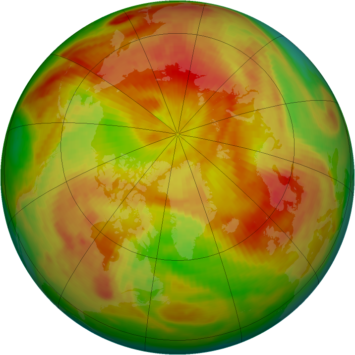 Arctic ozone map for 01 May 1979
