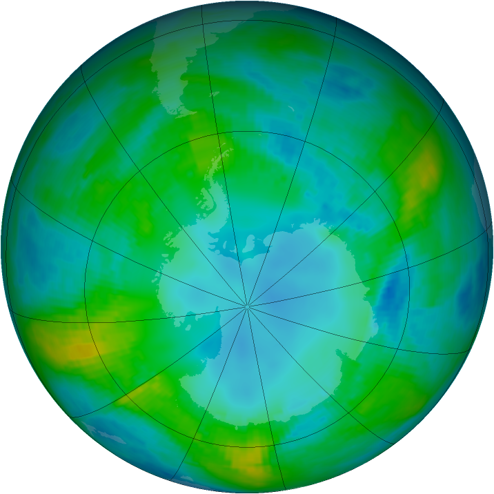 Antarctic ozone map for 02 May 1979