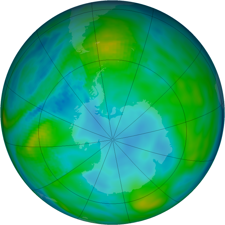 Antarctic ozone map for 05 May 1979