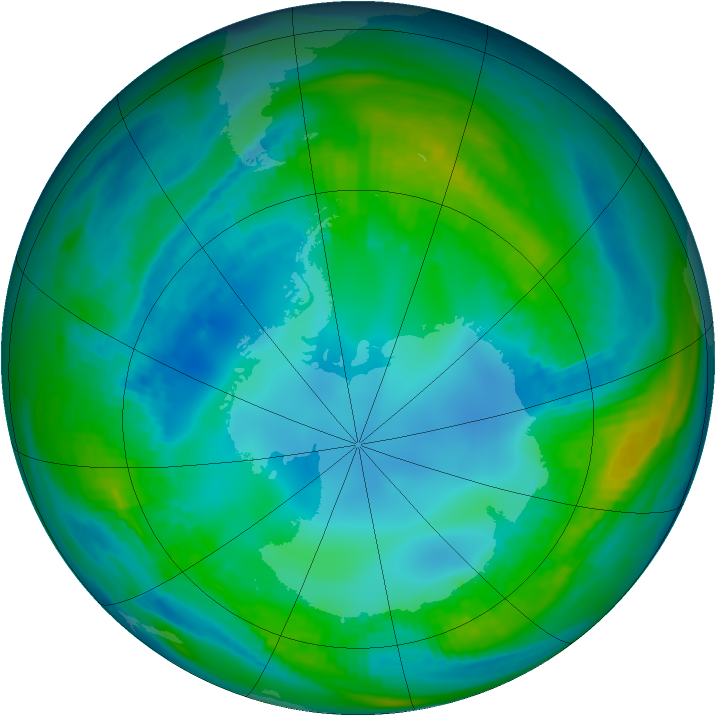 Antarctic ozone map for 07 May 1979