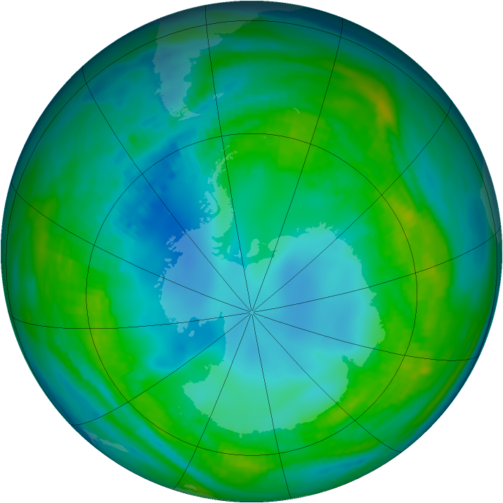 Antarctic ozone map for 09 May 1979