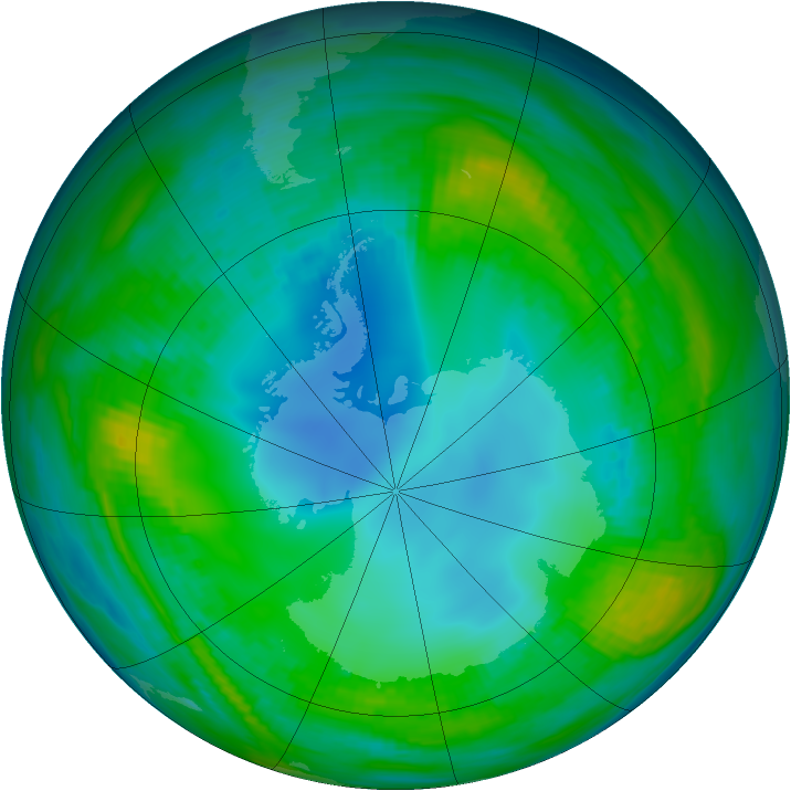 Antarctic ozone map for 11 May 1979