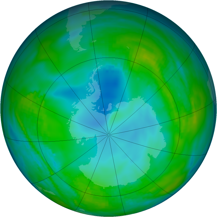Antarctic ozone map for 12 May 1979