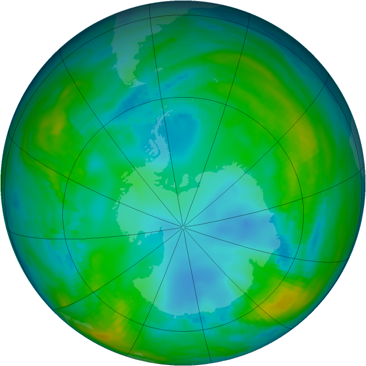 Antarctic ozone map for 14 May 1979