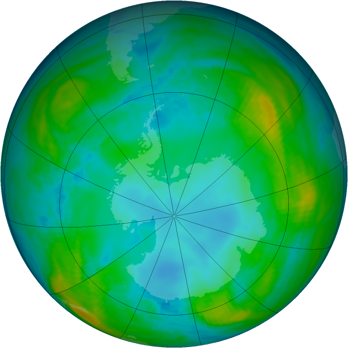 Antarctic ozone map for 15 May 1979