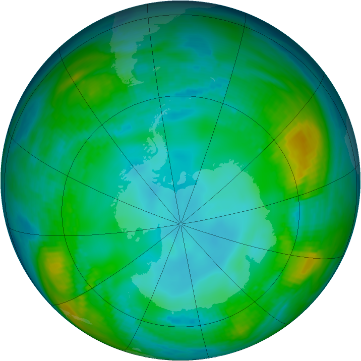 Antarctic ozone map for 16 May 1979