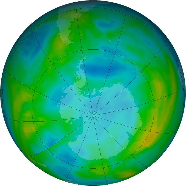 Antarctic ozone map for 18 May 1979