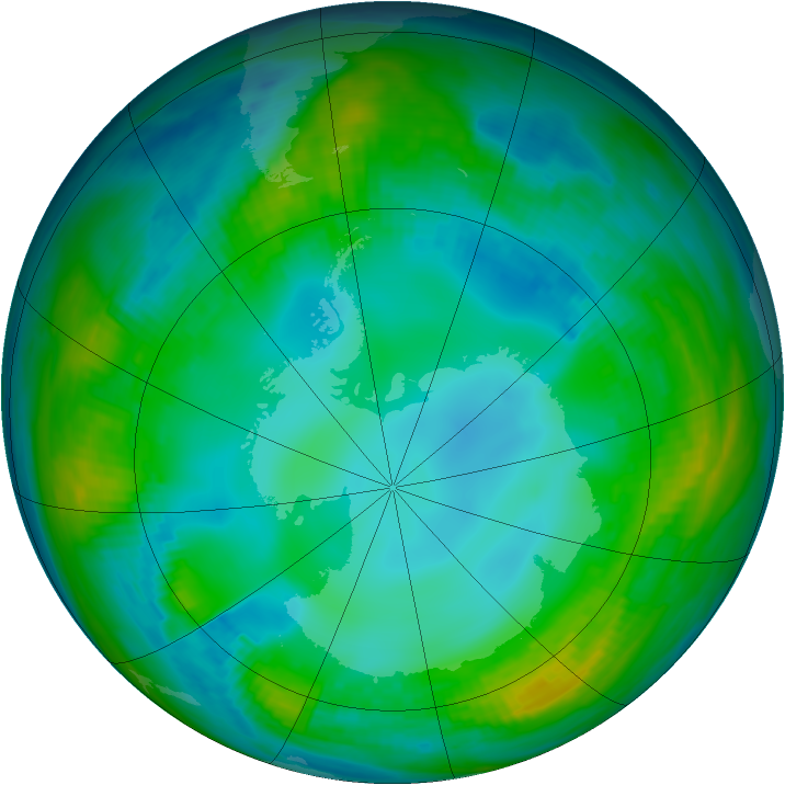 Antarctic ozone map for 19 May 1979