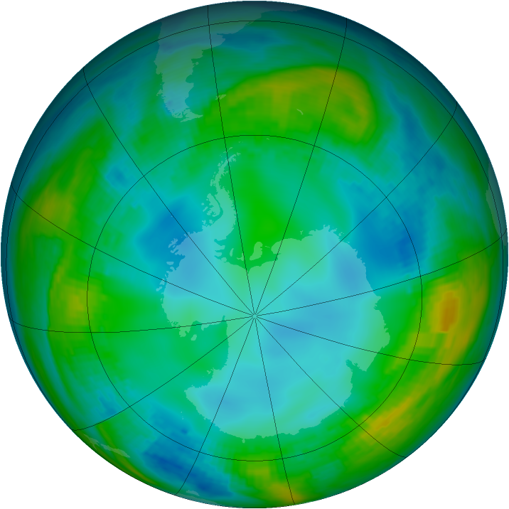 Antarctic ozone map for 21 May 1979