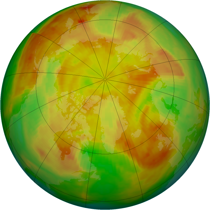 Arctic ozone map for 22 May 1979