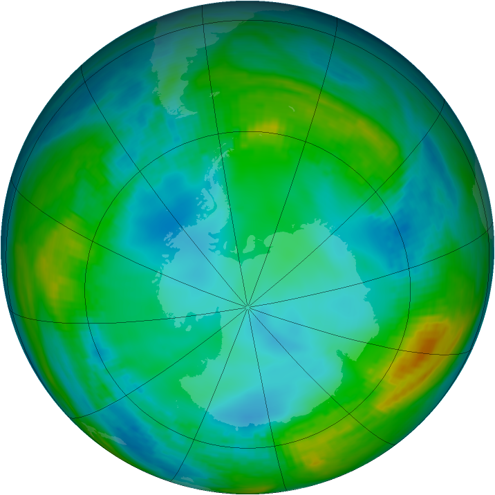 Antarctic ozone map for 22 May 1979