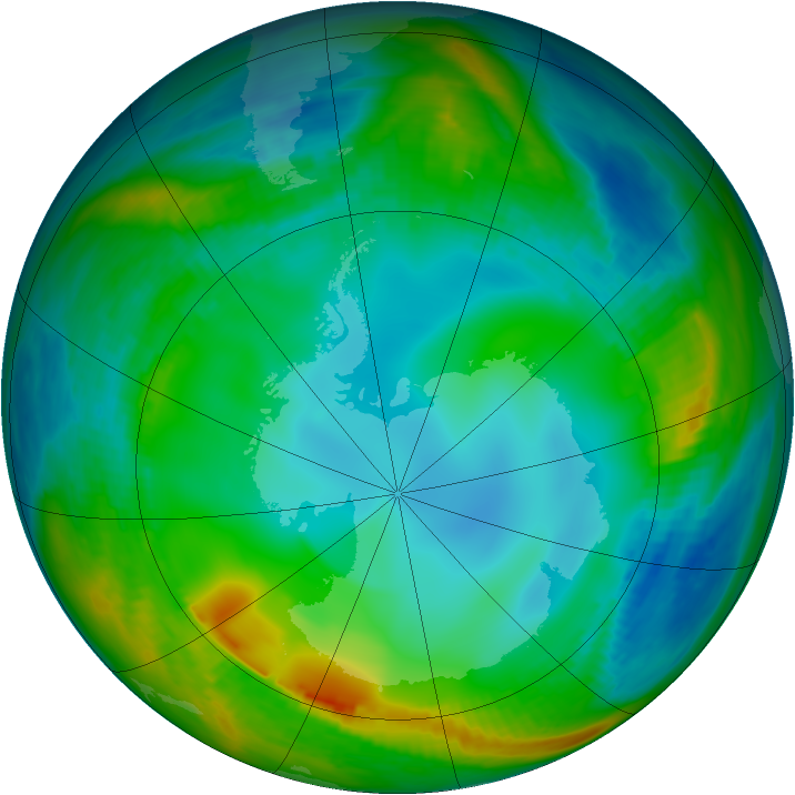 Antarctic ozone map for 31 May 1979