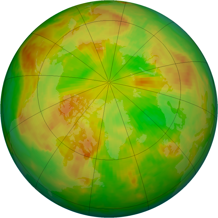 Arctic ozone map for 06 June 1979