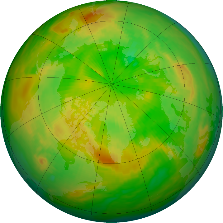 Arctic ozone map for 20 June 1979