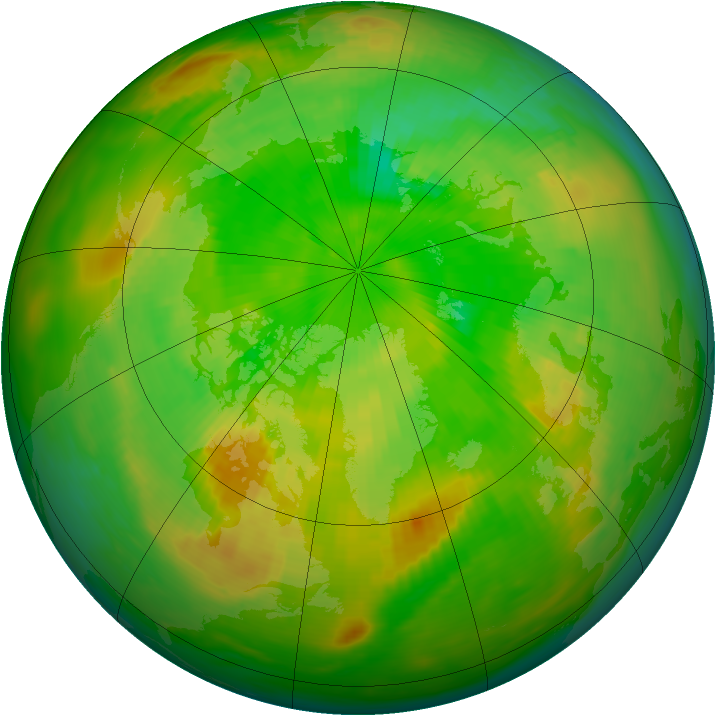Arctic ozone map for 27 June 1979