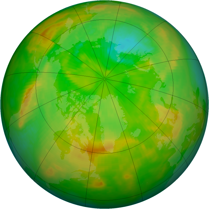 Arctic ozone map for 30 June 1979